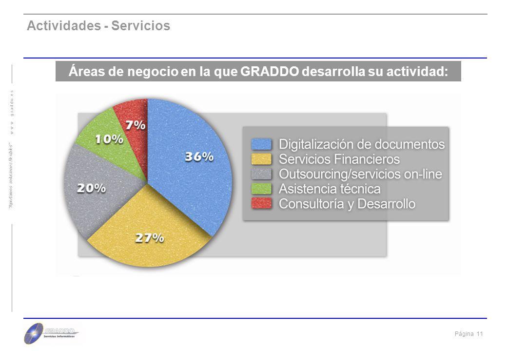 Áreas de negocio en la que GRADDO desarrolla su actividad: