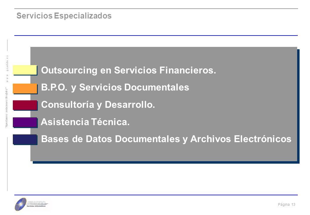 Outsourcing en Servicios Financieros. B.P.O. y Servicios Documentales