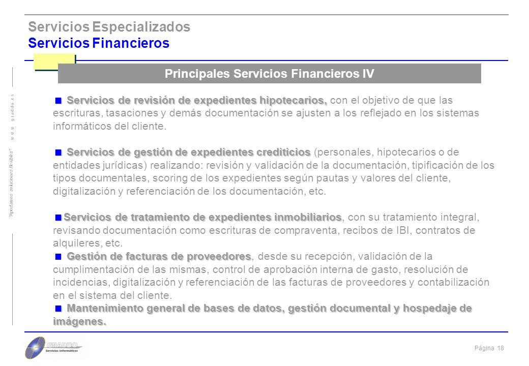 Principales Servicios Financieros IV