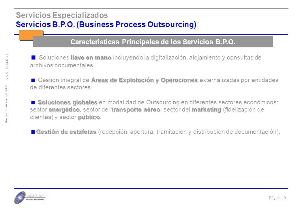 Características Principales de los Servicios B.P.O.