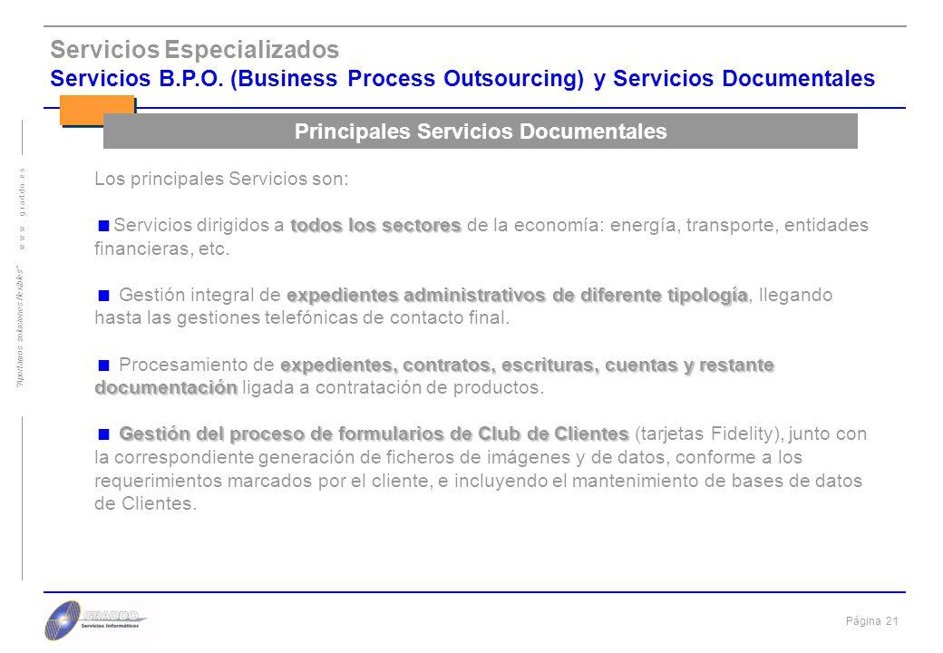 Principales Servicios Documentales