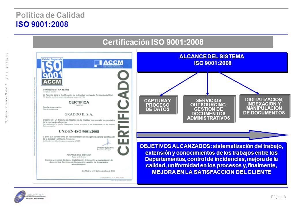 Política de Calidad ISO 9001:2008