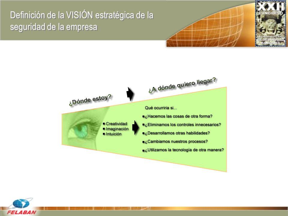 Definición de la VISIÓN estratégica de la seguridad de la empresa