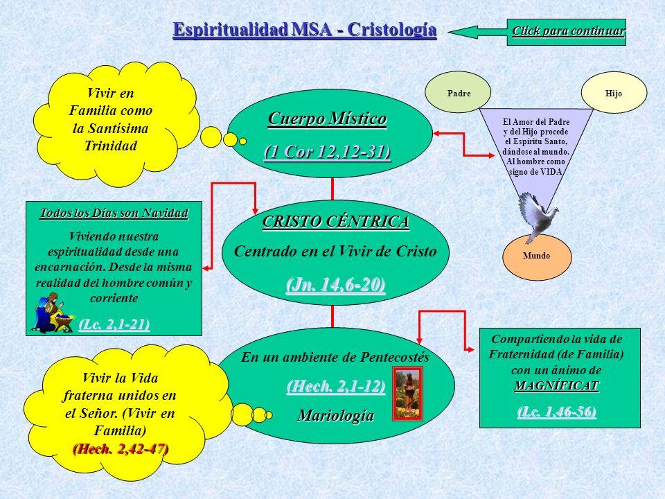 Espiritualidad MSA - Cristología