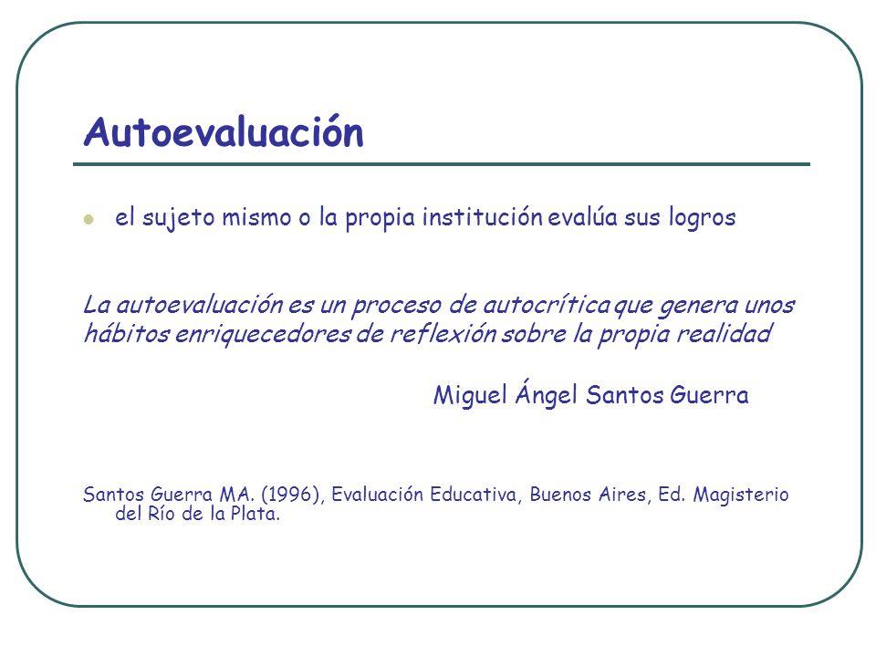 Autoevaluación Miguel Ángel Santos Guerra