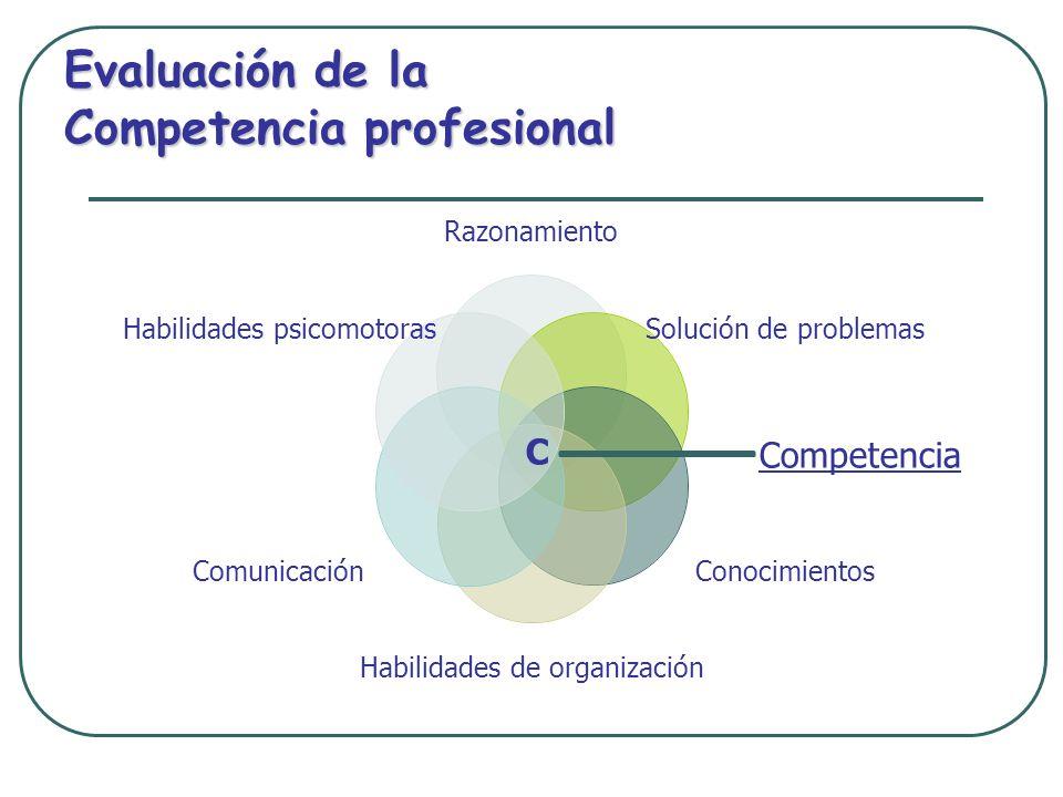 Evaluación de la Competencia profesional