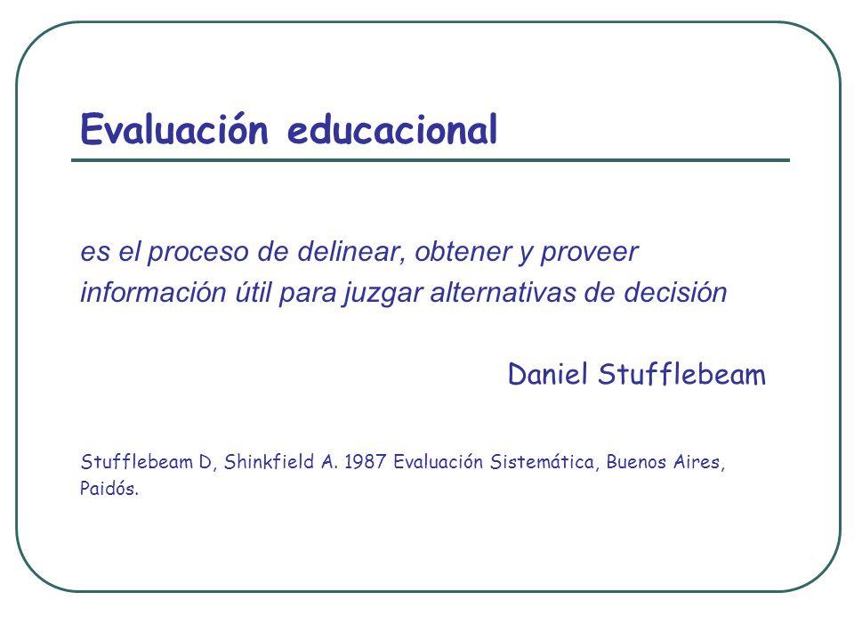 Evaluación educacional