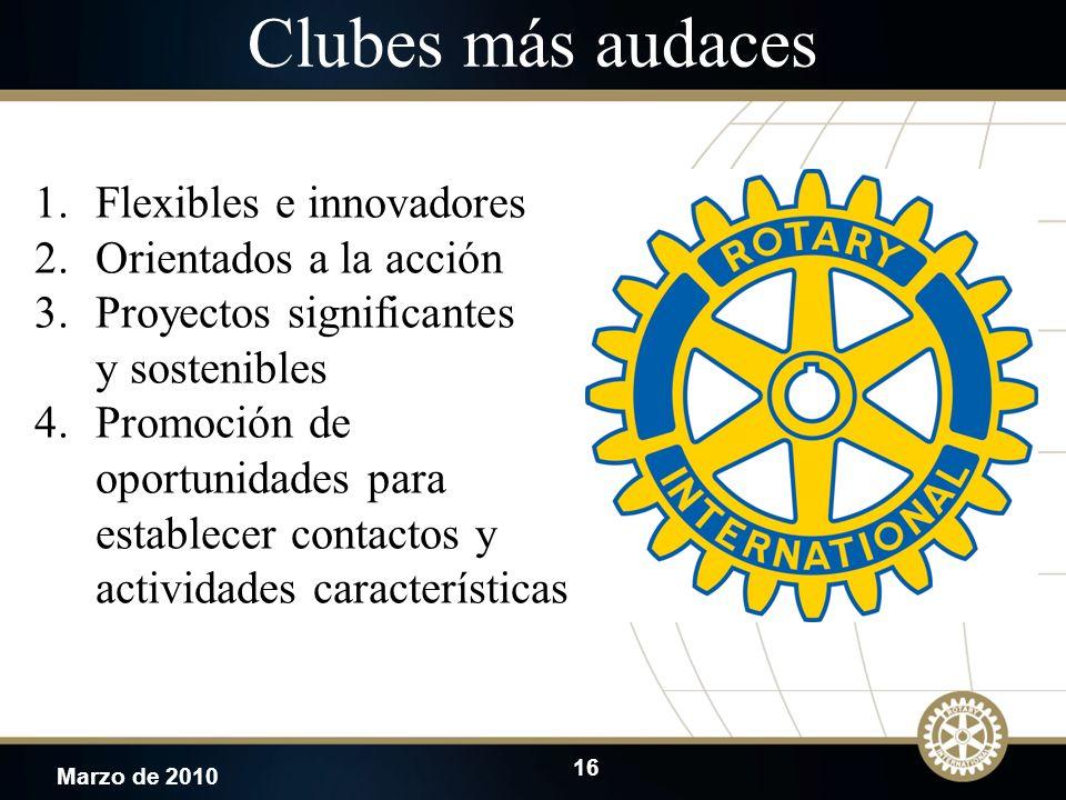 Clubes más audaces Flexibles e innovadores Orientados a la acción