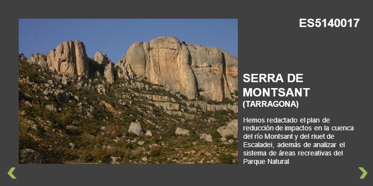 ES5140017 SERRA DE MONTSANT (TARRAGONA)
