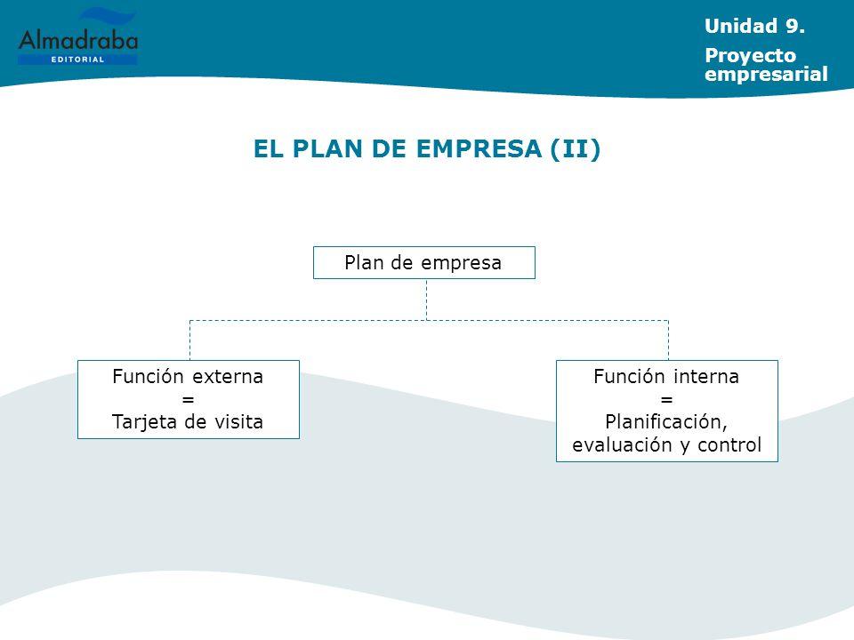 Planificación, evaluación y control