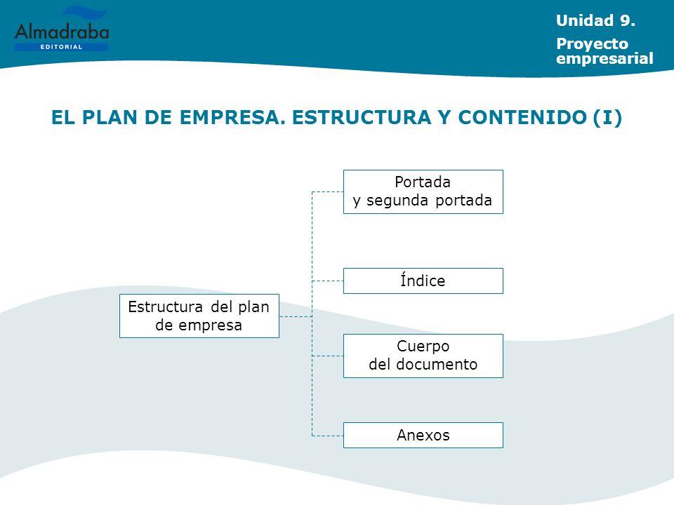 EL PLAN DE EMPRESA. ESTRUCTURA Y CONTENIDO (I)