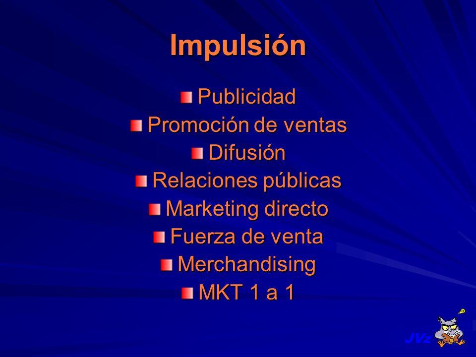 Impulsión Publicidad Promoción de ventas Difusión Relaciones públicas