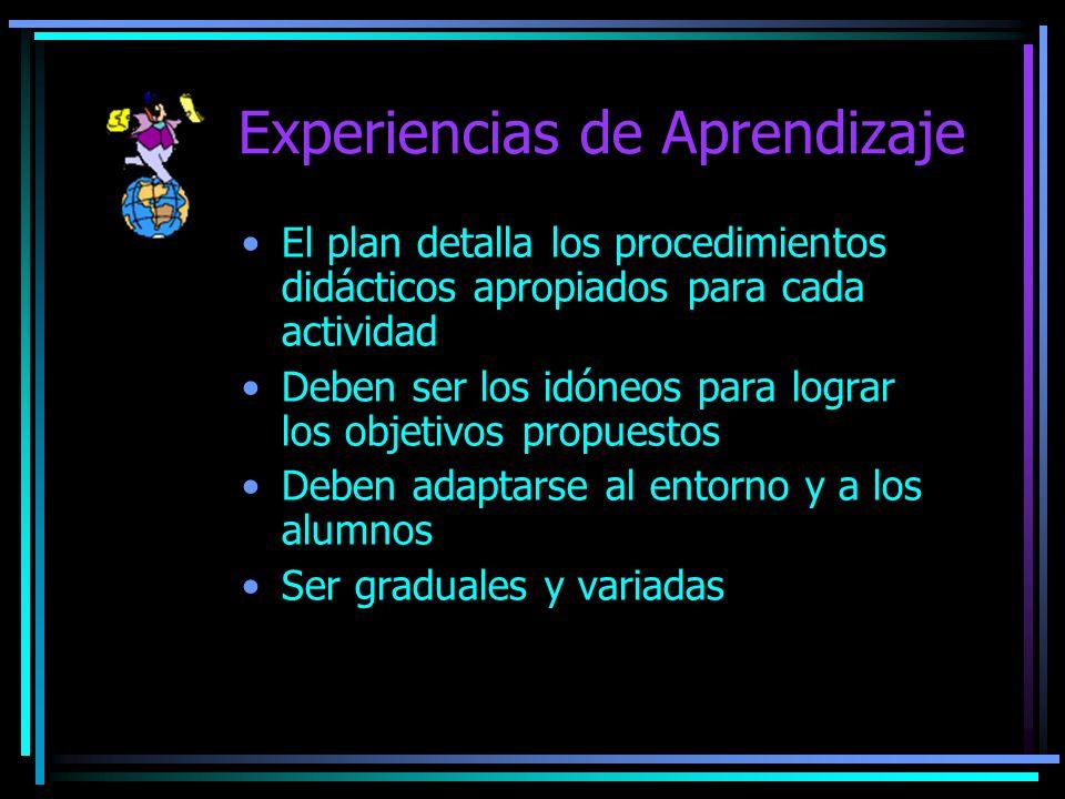 Experiencias de Aprendizaje