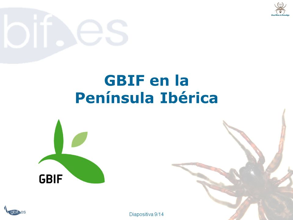 GBIF en la Península Ibérica