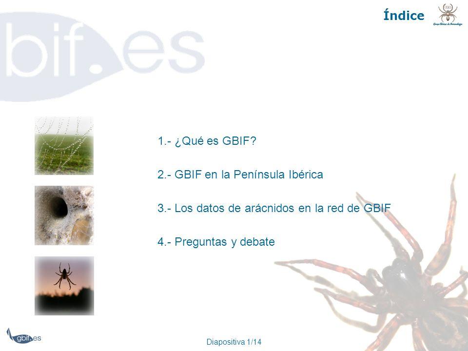 2.- GBIF en la Península Ibérica
