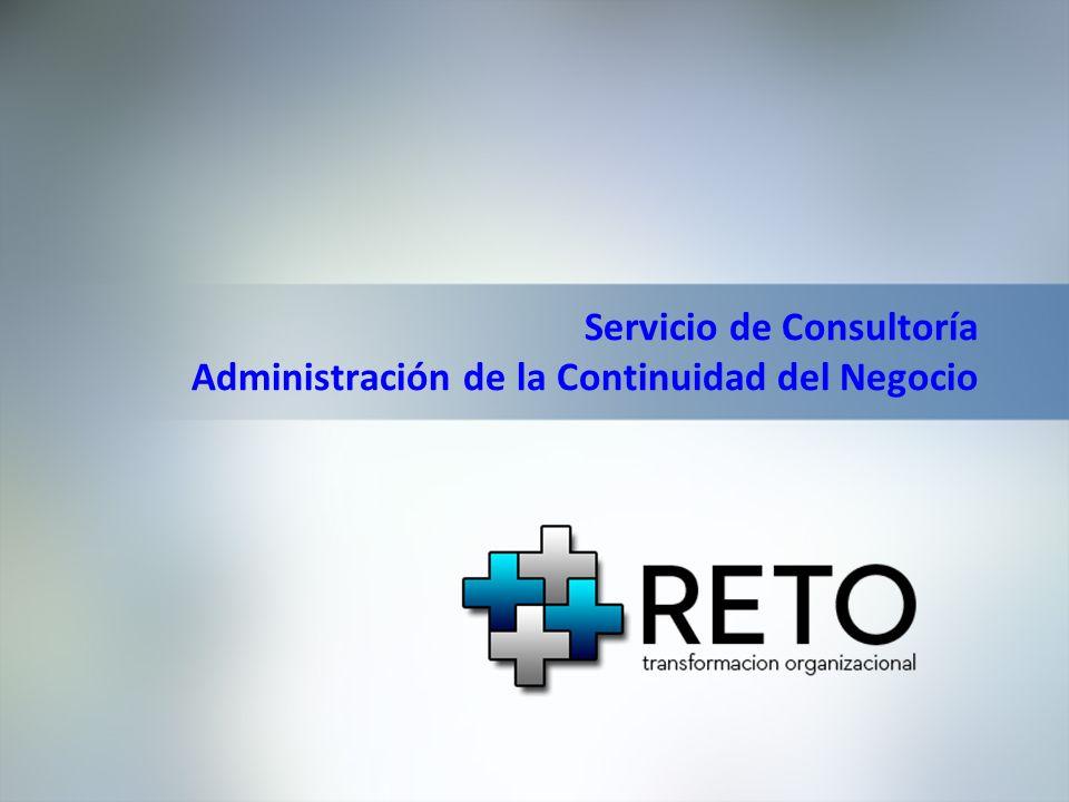 Servicio de Consultoría Administración de la Continuidad del Negocio