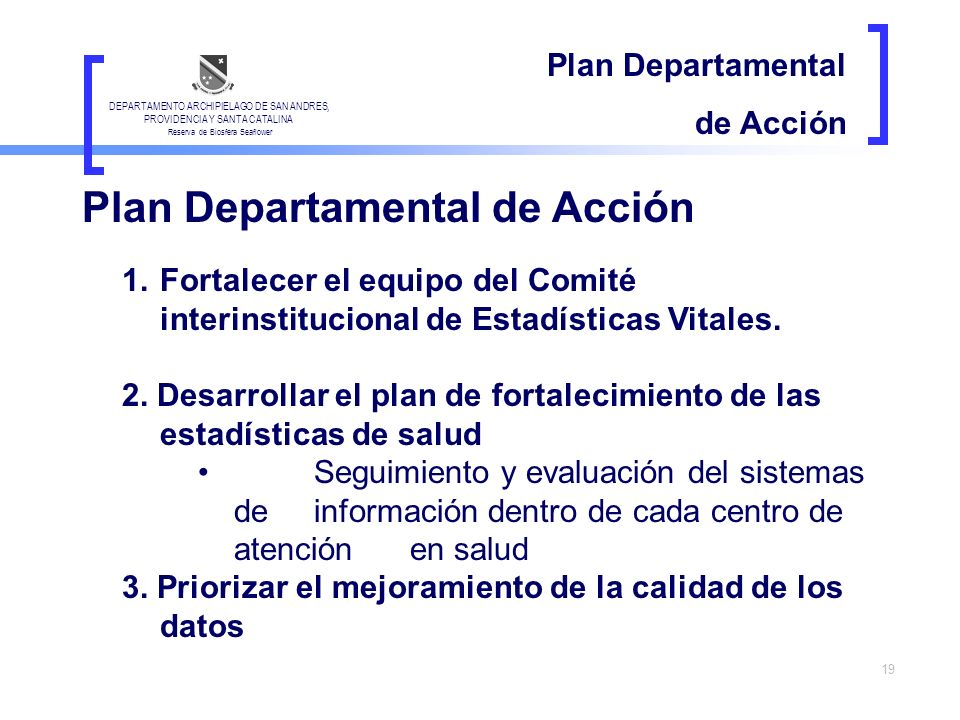 Plan Departamental de Acción