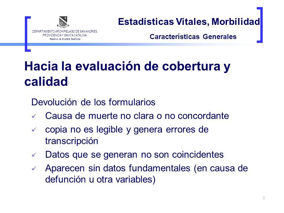 Hacia la evaluación de cobertura y calidad