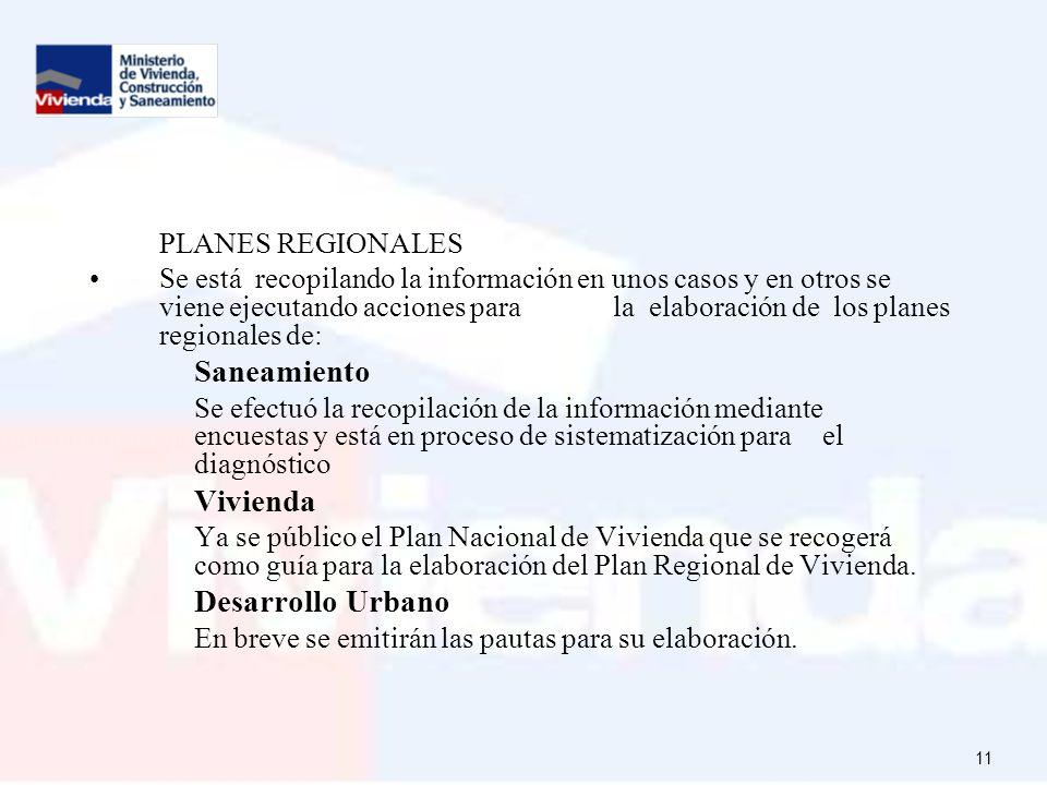 PLANES REGIONALES