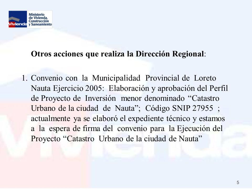 Otros acciones que realiza la Dirección Regional: