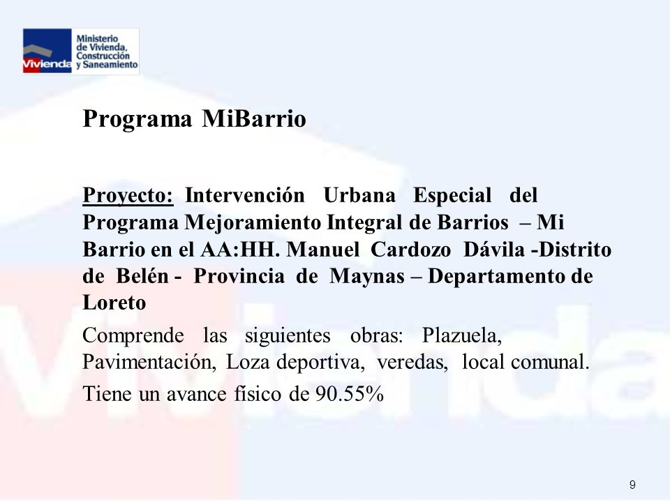 Programa MiBarrio
