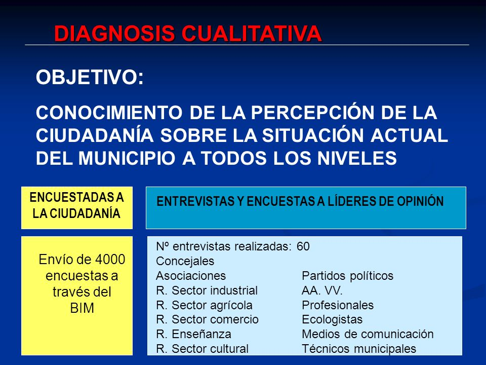 DIAGNOSIS CUALITATIVA