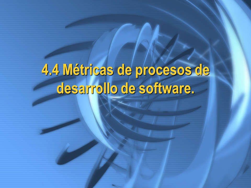 4.4 Métricas de procesos de desarrollo de software.