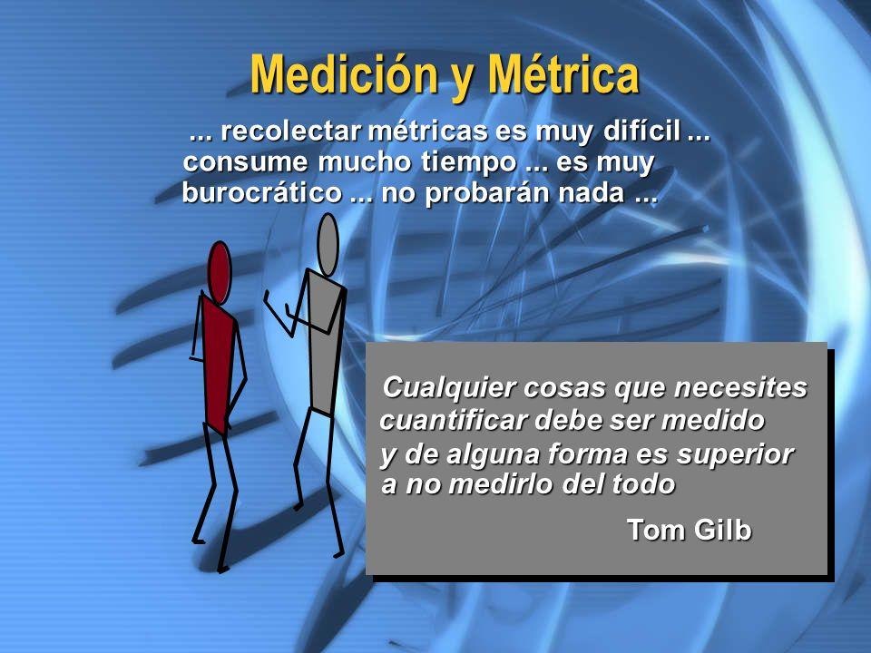 Medición y Métrica ... recolectar métricas es muy difícil ...