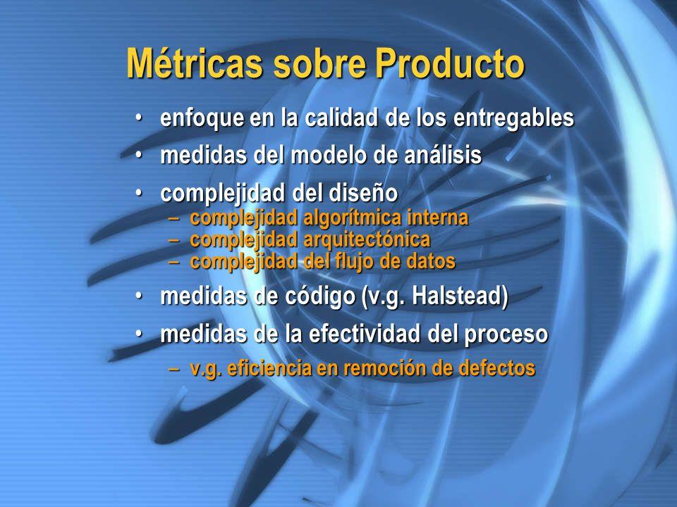 Métricas sobre Producto