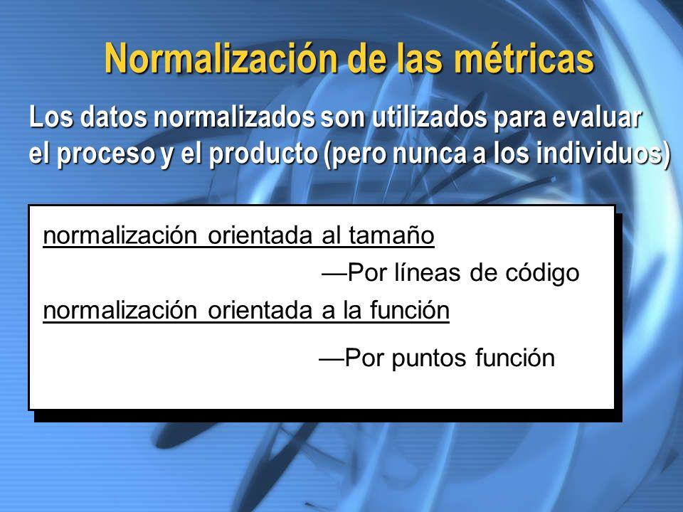Normalización de las métricas