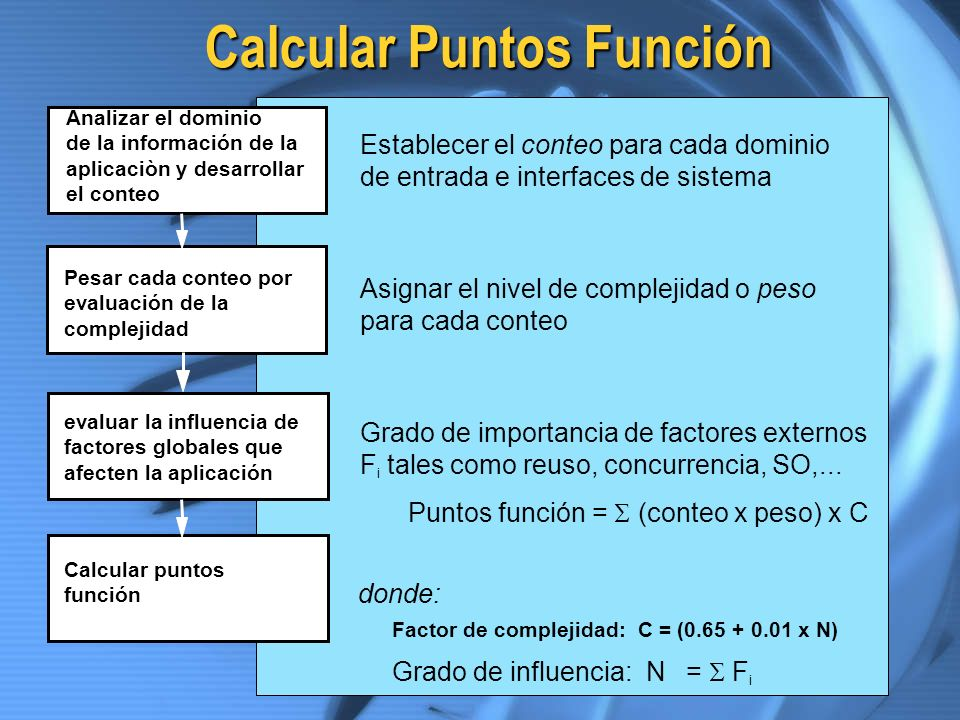Calcular Puntos Función