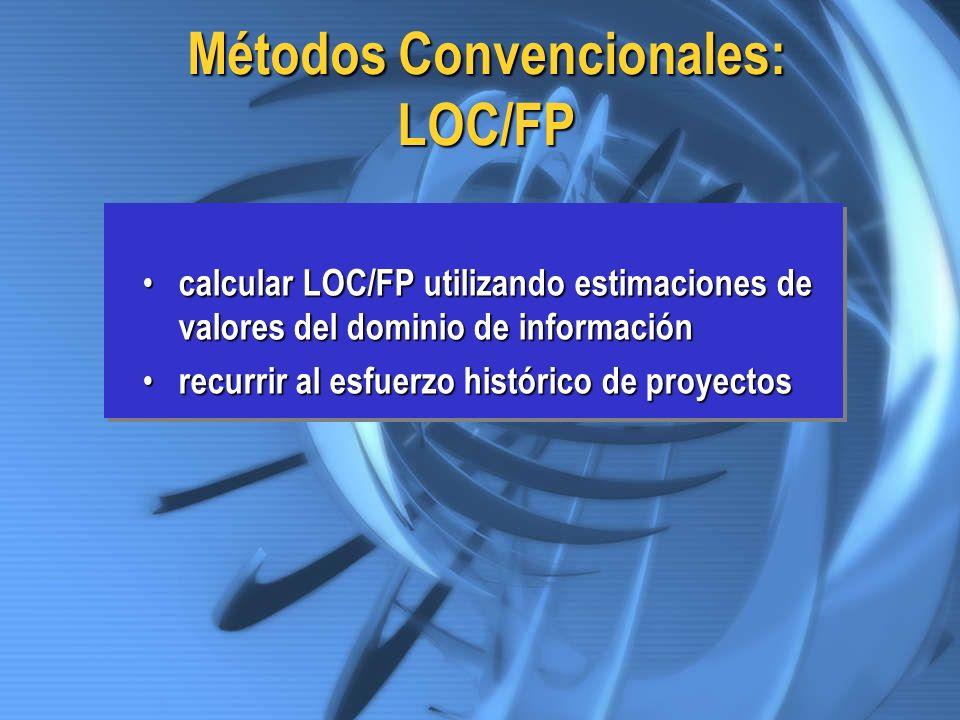 Métodos Convencionales: LOC/FP