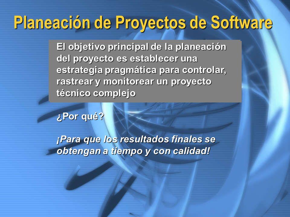 Planeación de Proyectos de Software