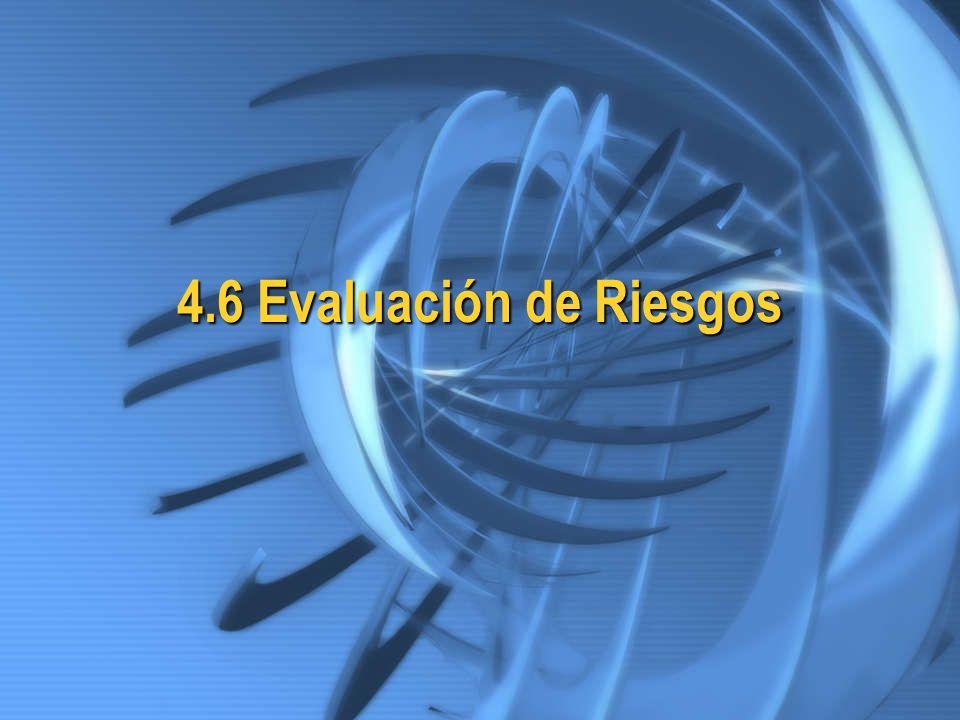 4.6 Evaluación de Riesgos