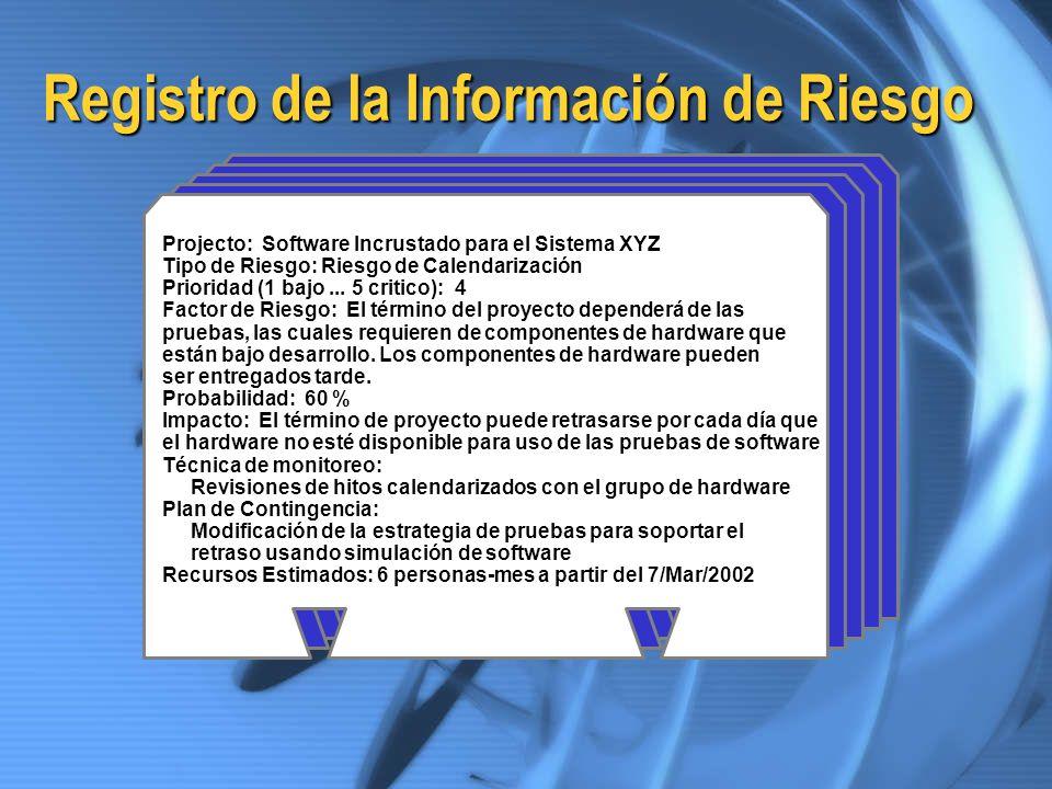 Registro de la Información de Riesgo