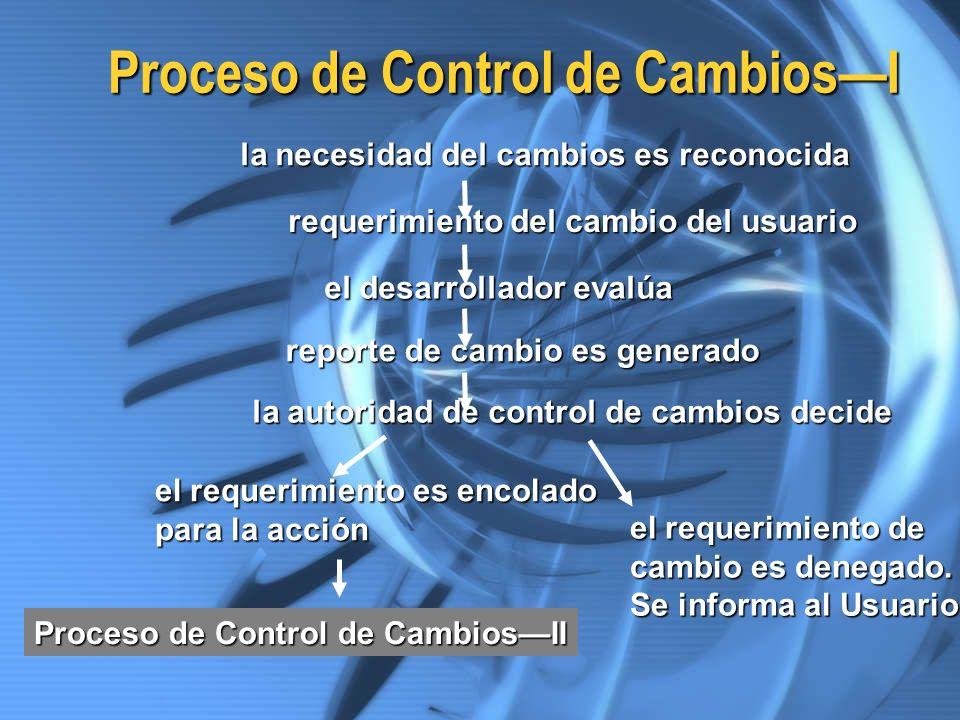 Proceso de Control de Cambios—I