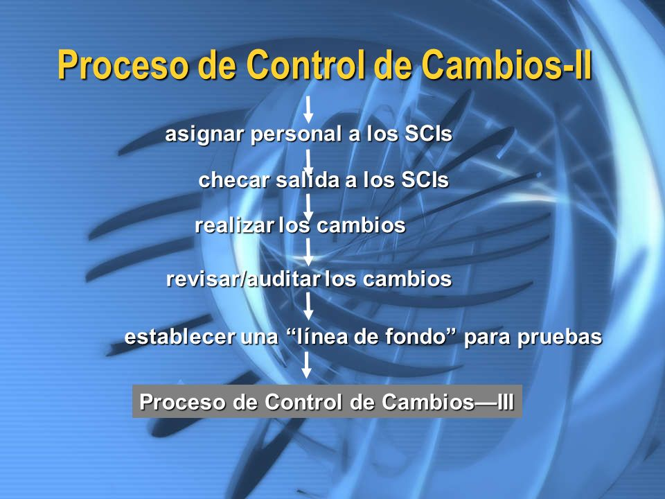 Proceso de Control de Cambios-II