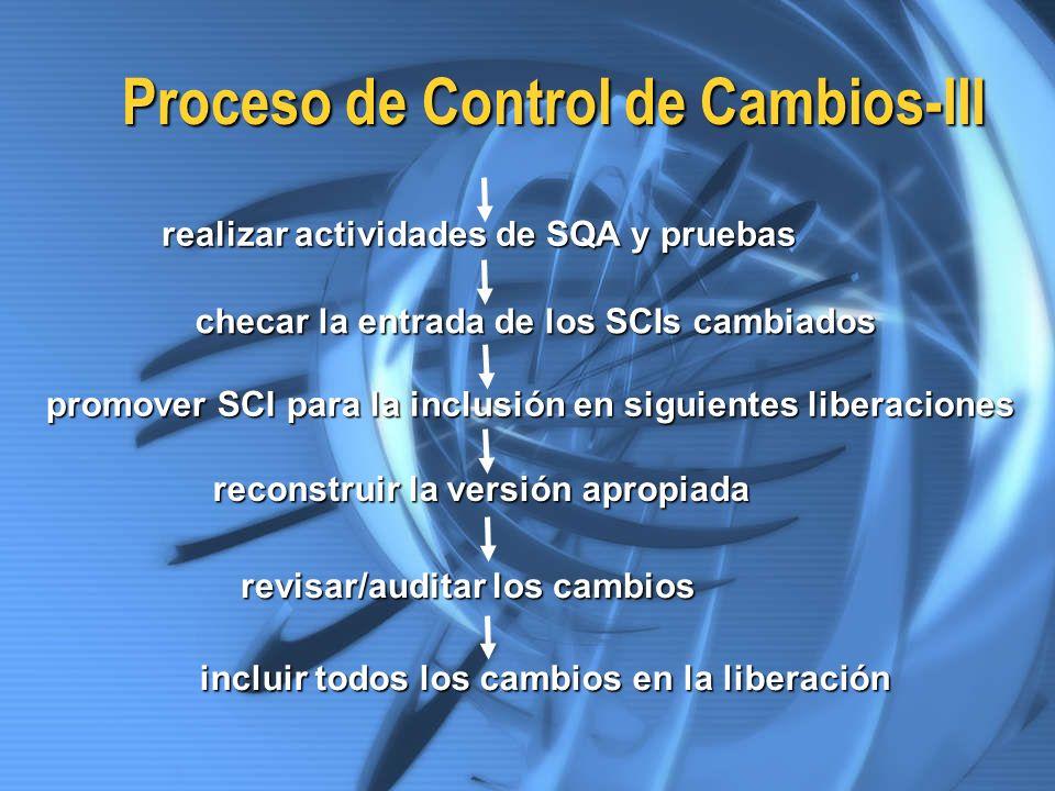 Proceso de Control de Cambios-III