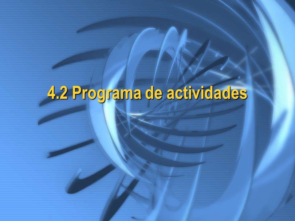 4.2 Programa de actividades