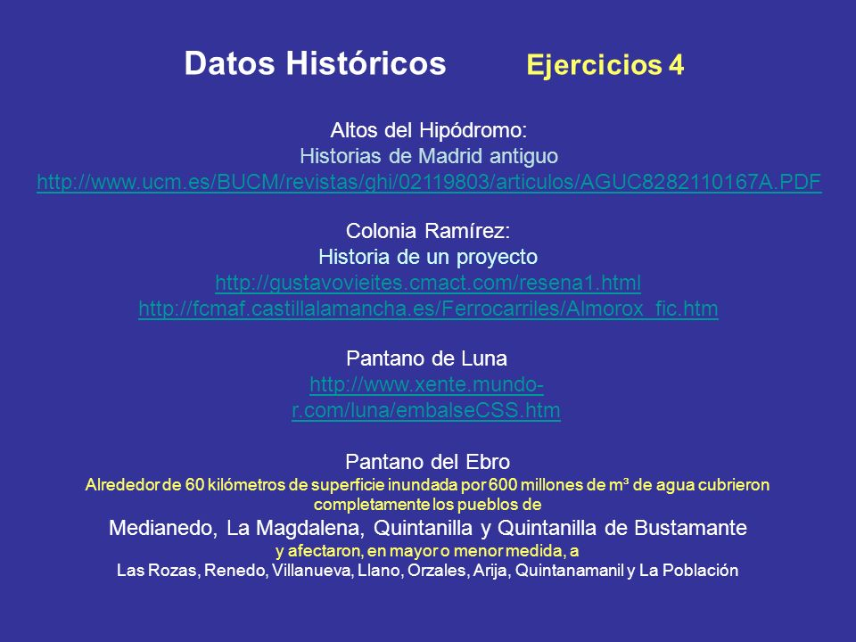 Datos Históricos Ejercicios 4