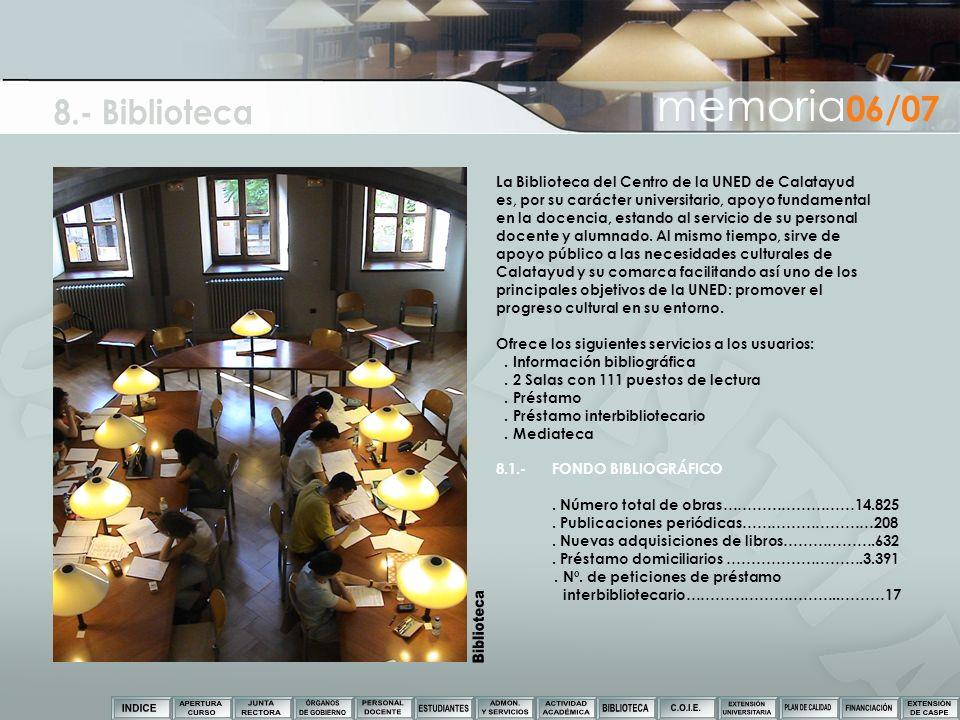 8.- Biblioteca Biblioteca memoria06/07