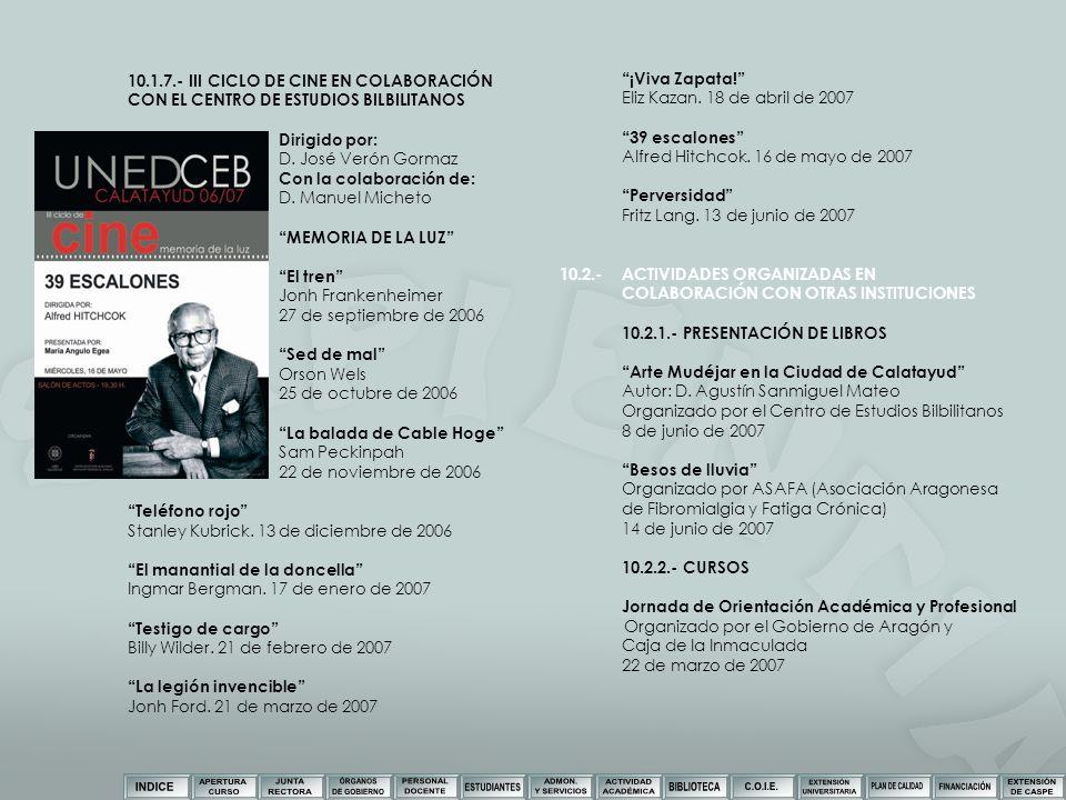 10.1.7.- III CICLO DE CINE EN COLABORACIÓN