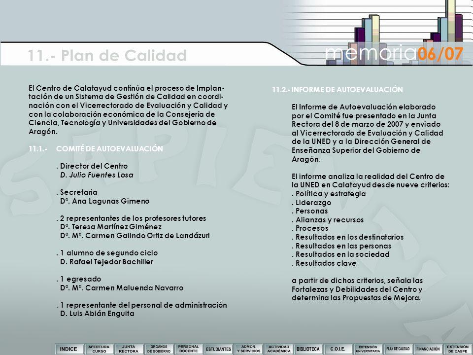 11.- Plan de Calidad memoria06/07