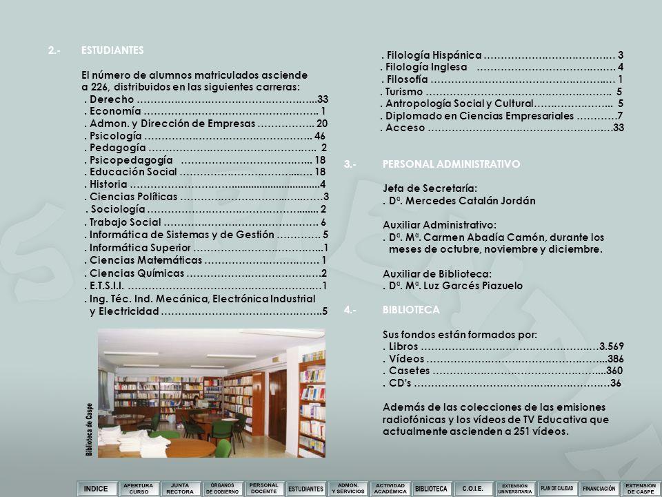 Biblioteca de Caspe 2.- ESTUDIANTES