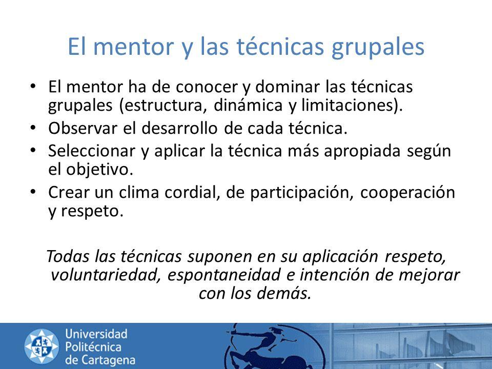El mentor y las técnicas grupales