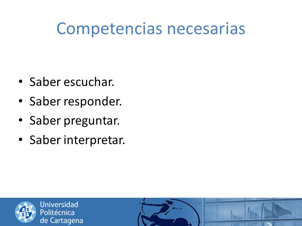 Competencias necesarias