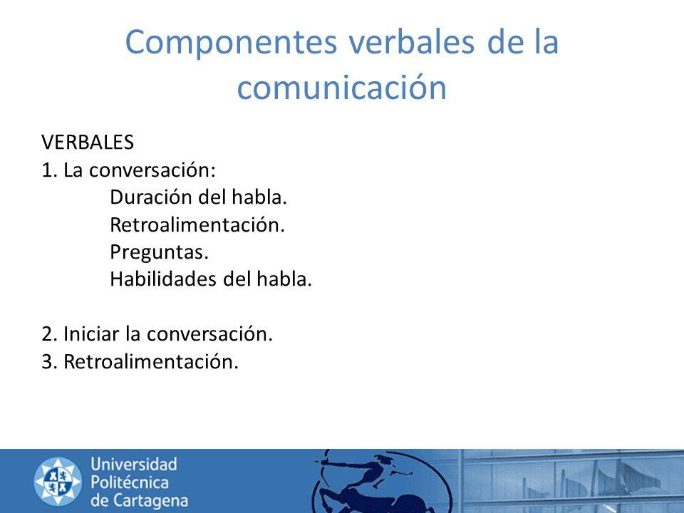 Componentes verbales de la comunicación