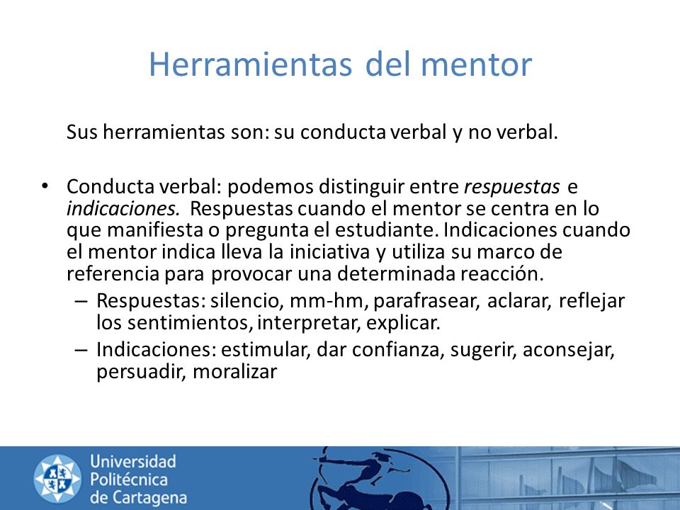 Herramientas del mentor