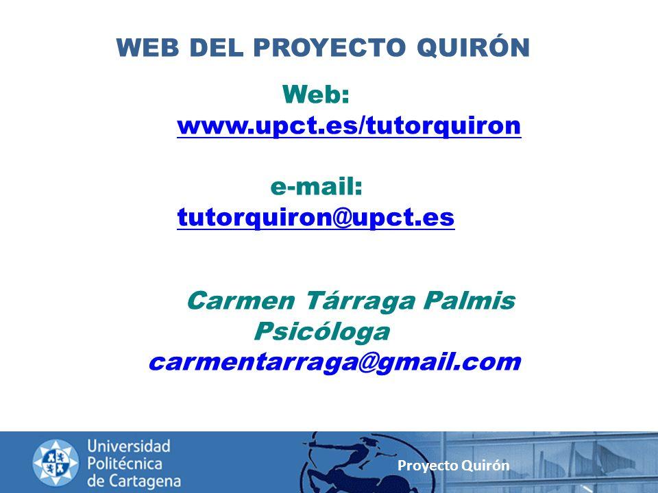 WEB DEL PROYECTO QUIRÓN