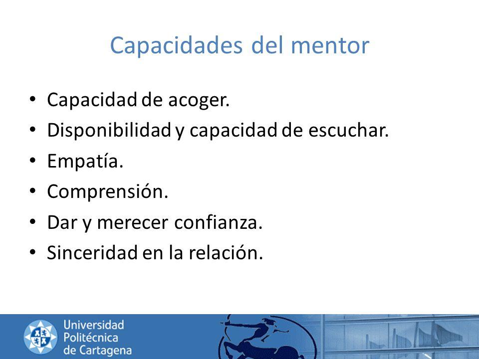 Capacidades del mentor
